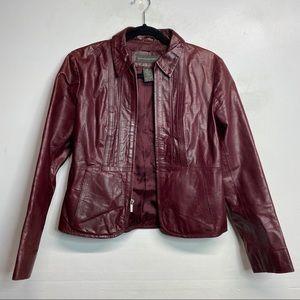 Banana republic leather moto full zip jacket 2